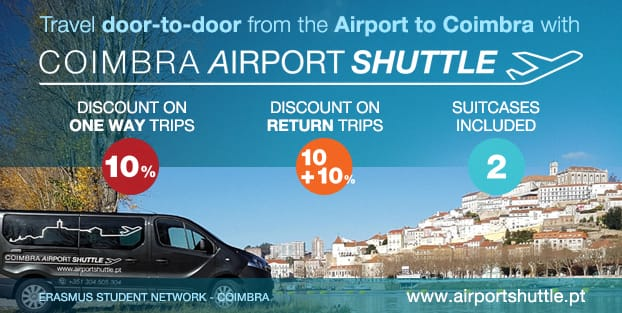 Coimbra Airport Shuttle is a local enterprise providing transfers to and from Portugal´s main airports, Porto (Francisco Sá Carneiro Airport) and Lisbon (Portela Airport).